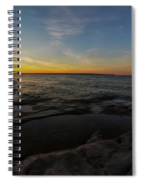 Spiral Notebook featuring the photograph Miners Beach 4 by Heather Kenward