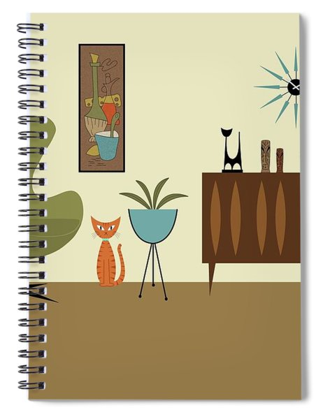Mini Gravel Art With Orange Cat Spiral Notebook
