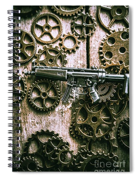 Miniature Mp5 Submachine Gun Spiral Notebook