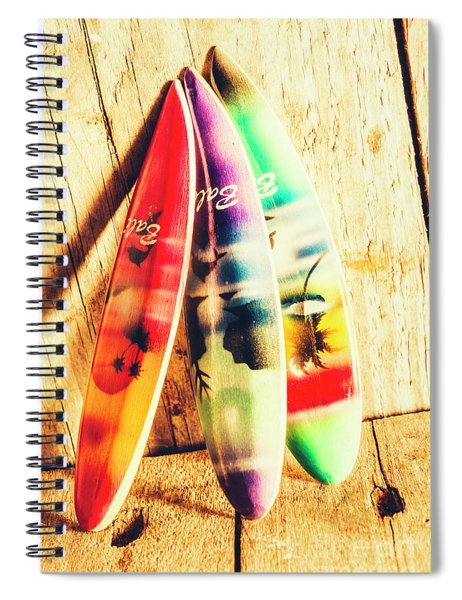 Miniature Surfboard Decorations Spiral Notebook