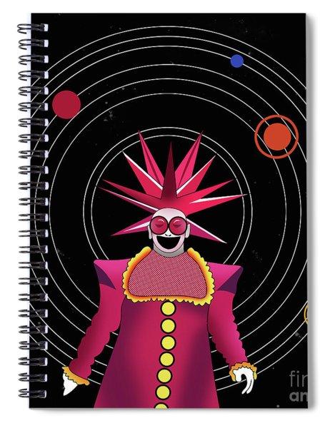 Minimal Space  Spiral Notebook
