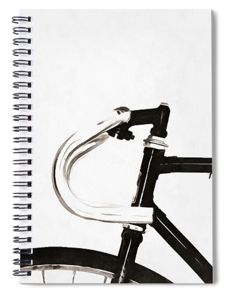 Minimalist Bicycle Painting Spiral Notebook
