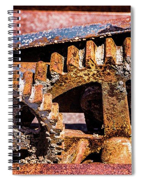 Mining Gears Spiral Notebook