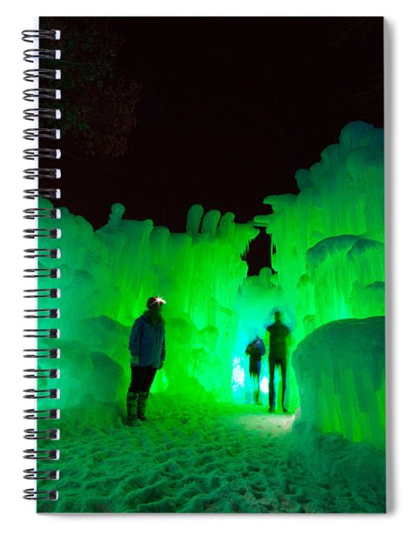 Ice Castles Of Minnesota Spiral Notebook