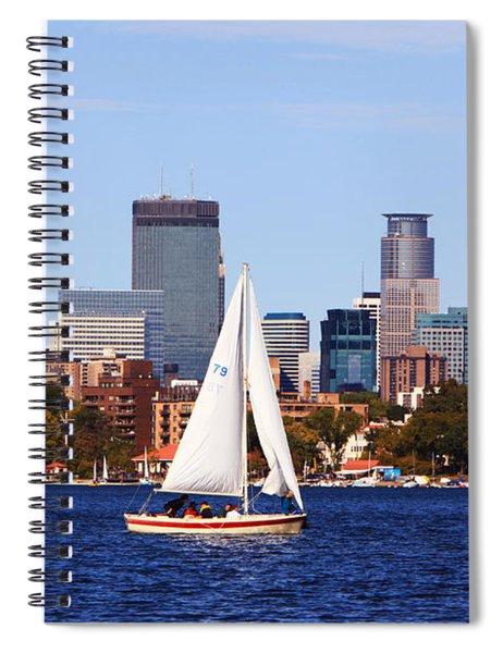 Minneapolis Skyline Lake Calhoun Sailing Spiral Notebook