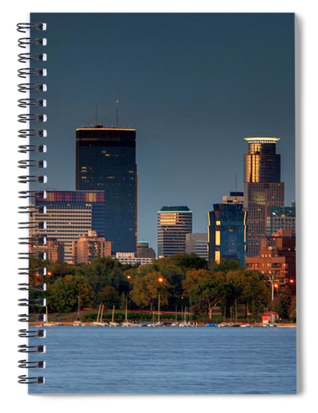 Minneapolis Skyline Photography Lake Calhoun Summer Evening Spiral Notebook