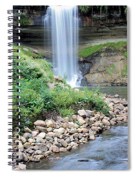 Minnehaha Falls Downstream Spiral Notebook