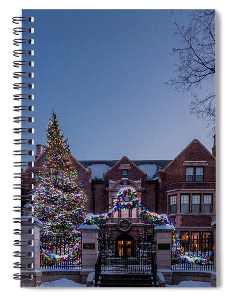 Spiral Notebook featuring the photograph Christmas Lights Series #6 - Minnesota Governor's Mansion by Patti Deters