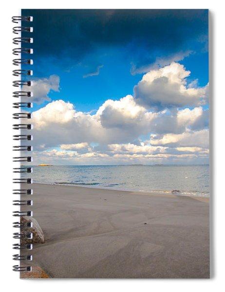 Minot Beach In Scituate Massachusetts  Spiral Notebook
