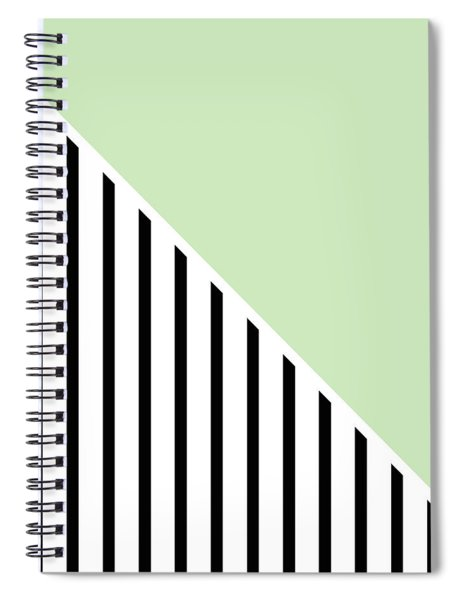Mint And Black Geometric Spiral Notebook