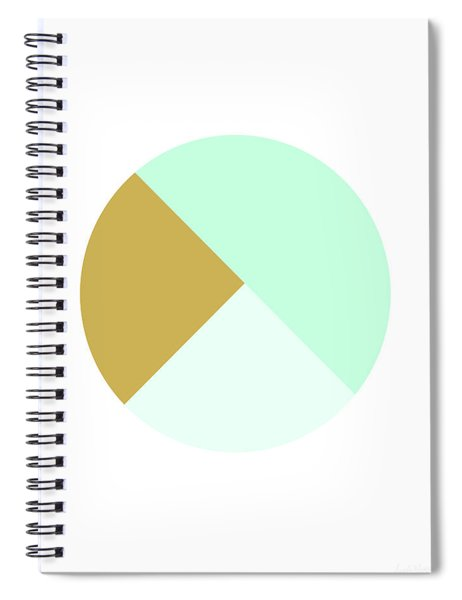 Mint And Gold Ball- By Linda Woods Spiral Notebook