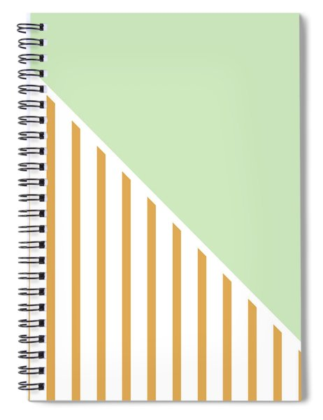 Mint And Gold Geometric Spiral Notebook