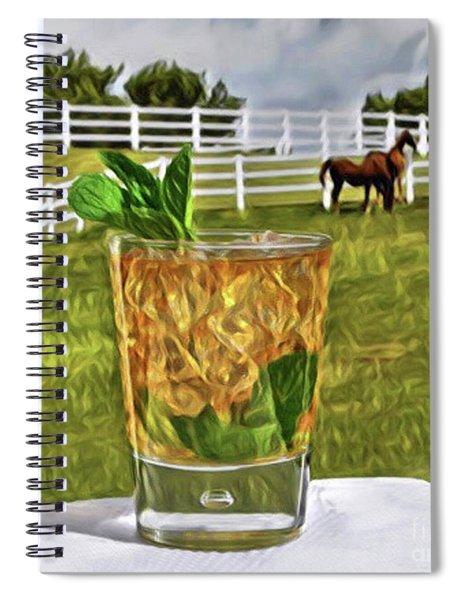 Mint Julep Kentucky Derby Spiral Notebook