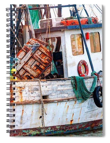 Miss Hale Shrimp Boat - Side Spiral Notebook
