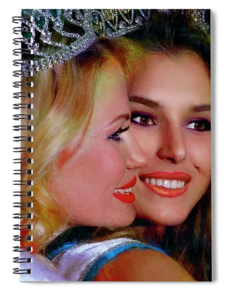 Miss Russian California 2016 And 17 Ulyana Zilbermints And Olga Sigmundson Spiral Notebook