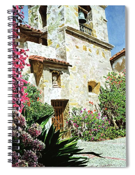 Mission Carmel Bell Tower Spiral Notebook