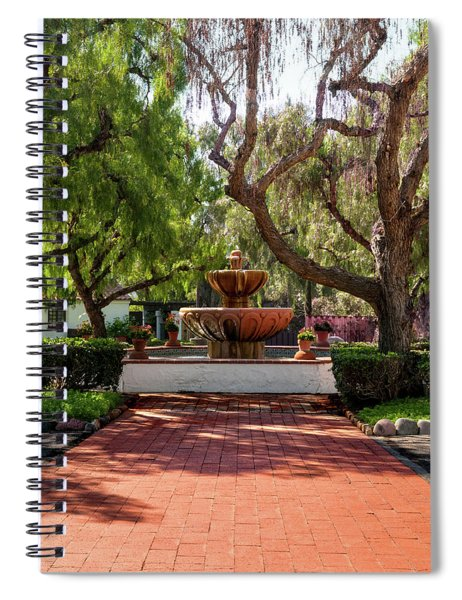 Mission Fountain Spiral Notebook