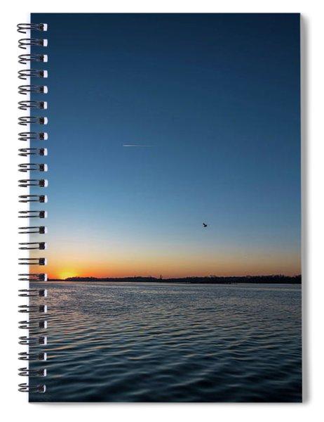 Mississippi River Sunrise Spiral Notebook