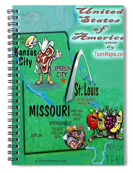 Missouri Fun Map Spiral Notebook