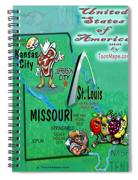 Missouri Fun Map Spiral Notebook