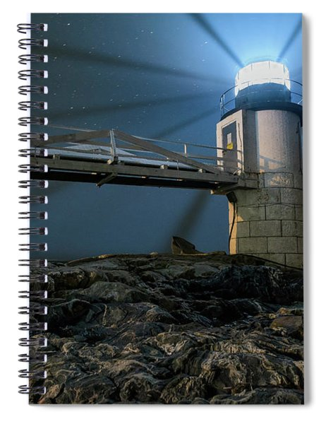 Mist At Marshall Point Light Spiral Notebook