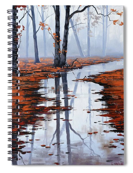 Misty Autumn Colors Spiral Notebook