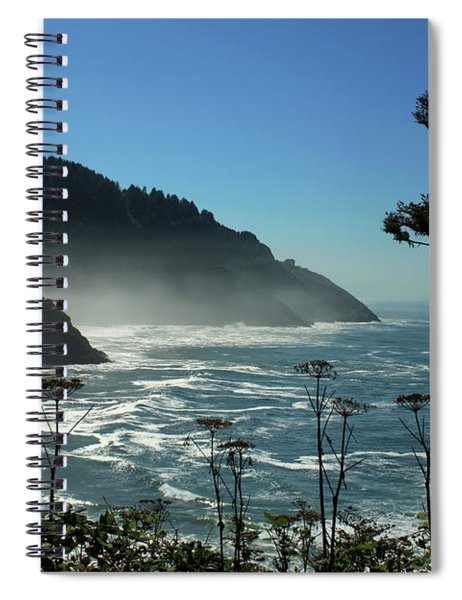 Misty Coast At Heceta Head Spiral Notebook