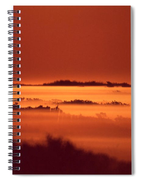 Misty Meadow At Sunrise Spiral Notebook