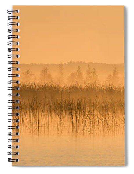 Misty Morning Floating Bog Island On Boy Lake Spiral Notebook
