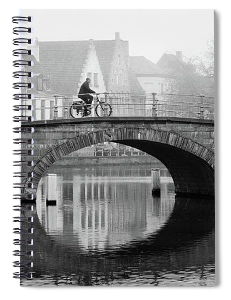 Spiral Notebook featuring the photograph Misty Morning In Bruges  by Barry O Carroll
