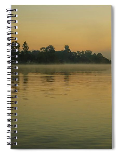 Misty Morning Lake Spiral Notebook