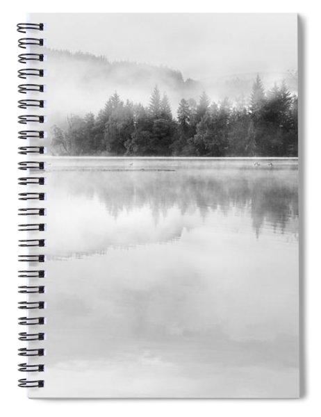 Misty Morning At Loch Ard Spiral Notebook