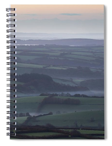 Misty Morning On Exmoor  Spiral Notebook