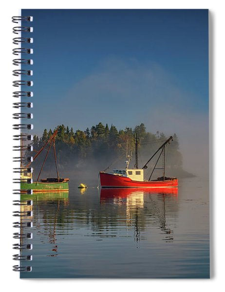 Misty Morning On Johnson Bay Spiral Notebook