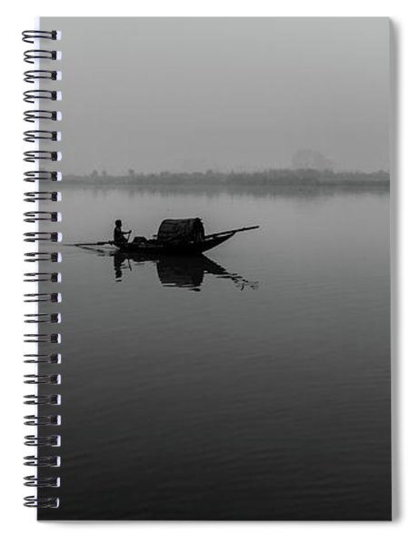 Misty Morning On The Lower Ganges Spiral Notebook