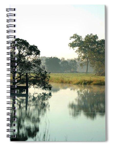 Misty Morning Pond Spiral Notebook