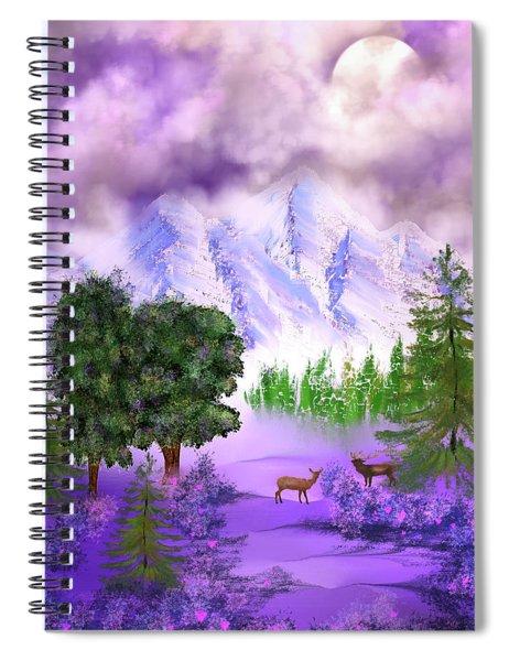 Misty Mountain Deer Spiral Notebook