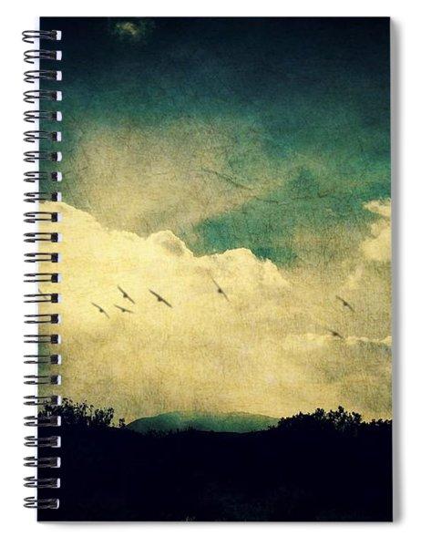 Misty Mountain Flight Spiral Notebook