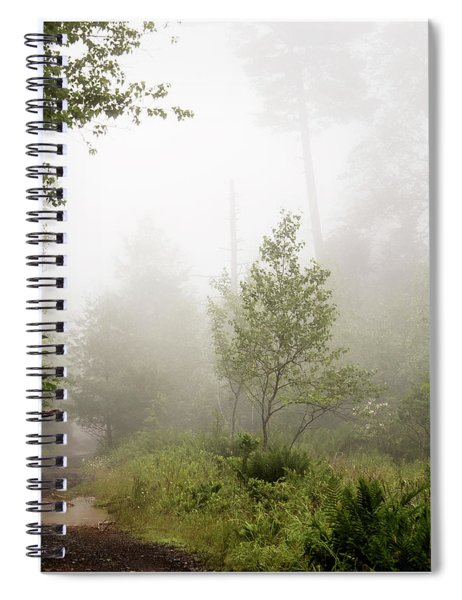 Misty Road At Forest Edge, Pocono Mountains, Pennsylvania Spiral Notebook