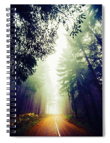 Misty Road Spiral Notebook