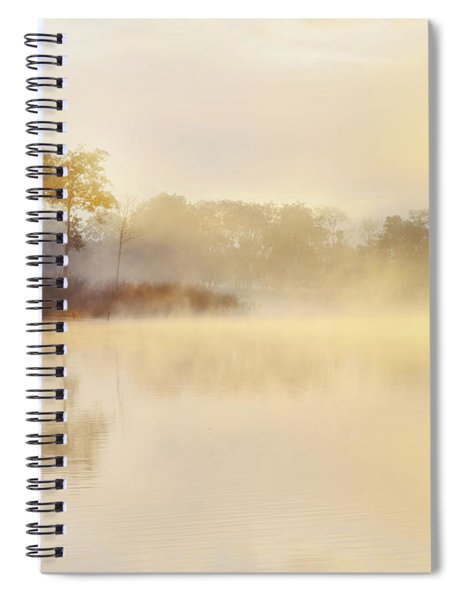 Misty Sunrise Loch Ard Spiral Notebook