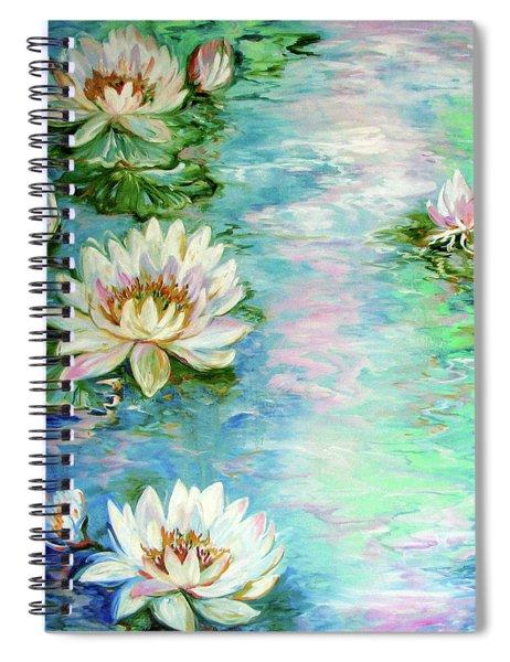Misty Waters Waterlily Pond Spiral Notebook