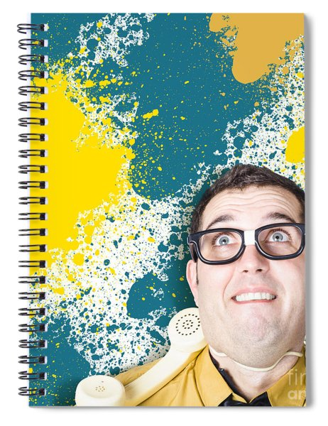 Mixed Up Graphic Designer Struggling With Client Spiral Notebook
