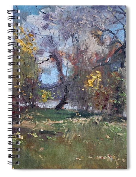 Mixed Weather In A Fall Afternoon Spiral Notebook