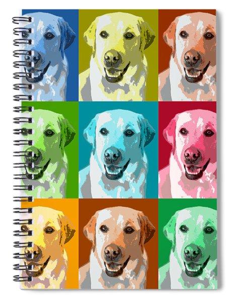 Golden Retriever Warhol Spiral Notebook