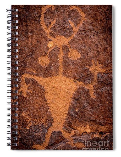 Moab Man Petroglyph Portrait - Utah Spiral Notebook
