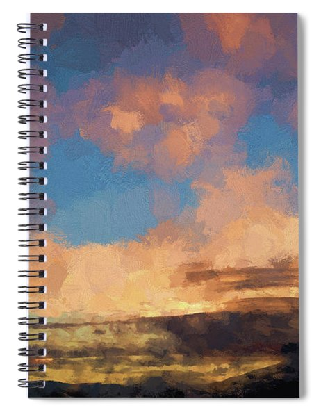 Moab Sunrise Abstract Painterly Spiral Notebook