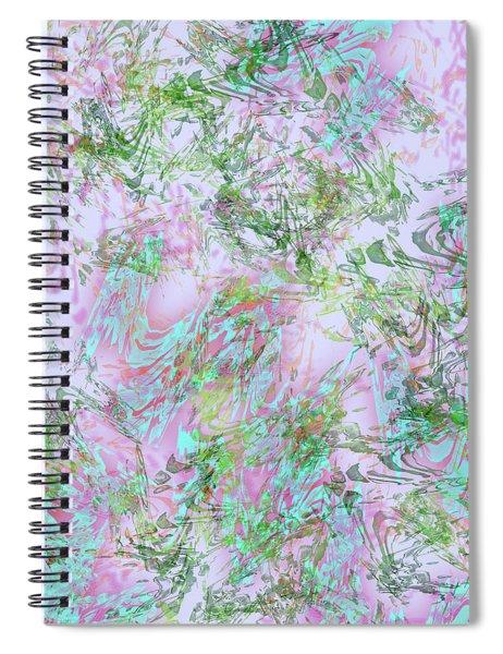 Mock Floral Purple Teal Spiral Notebook