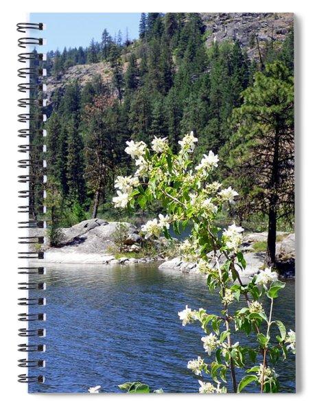 Mock Orange At Edith Lake Spiral Notebook