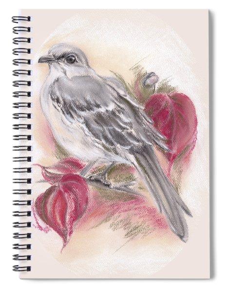 Mockingbird In Autumn Dogwood Spiral Notebook
